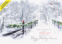 Wishful Thanking Holiday Cards