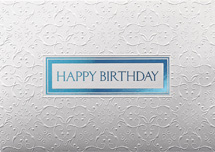 Sterling Silver Birthday Cards